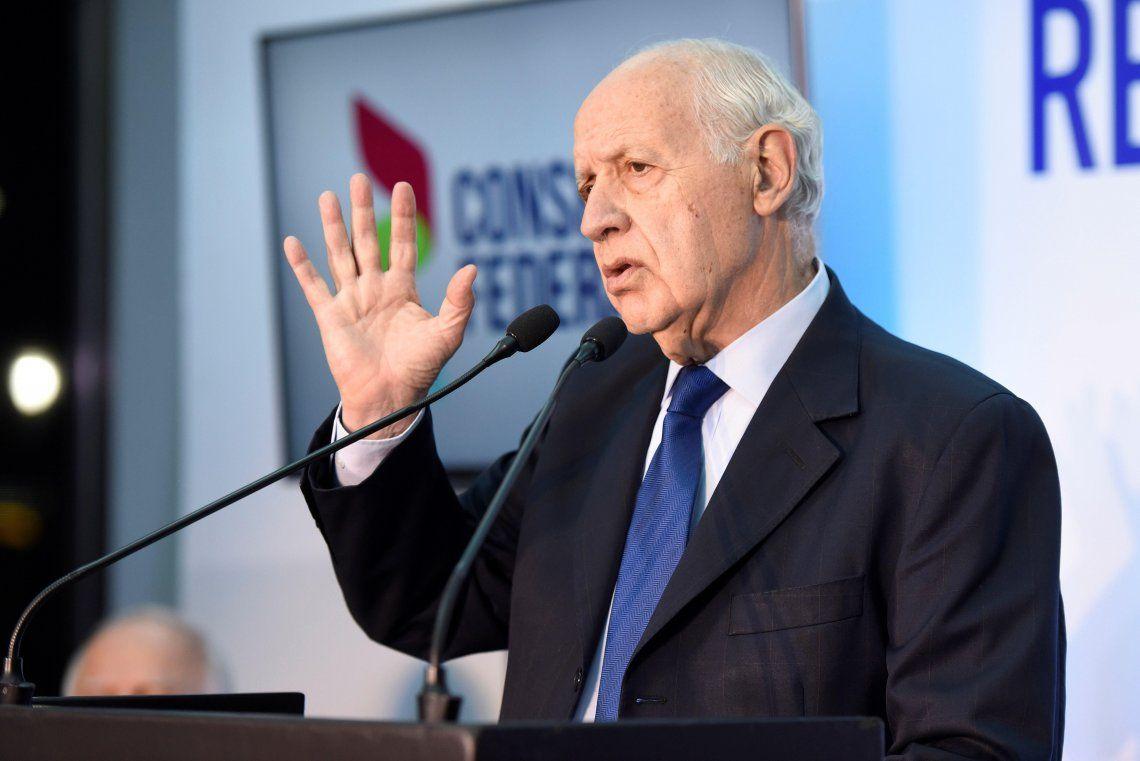 Lavagna insiste con un gobierno de unidad nacional que genere confianza