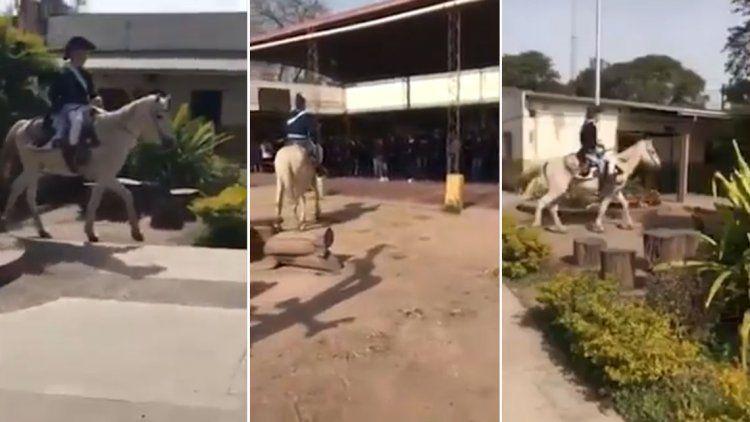 Un  profesor imitó a San Martín y dejó a todos sus alumnos mudos