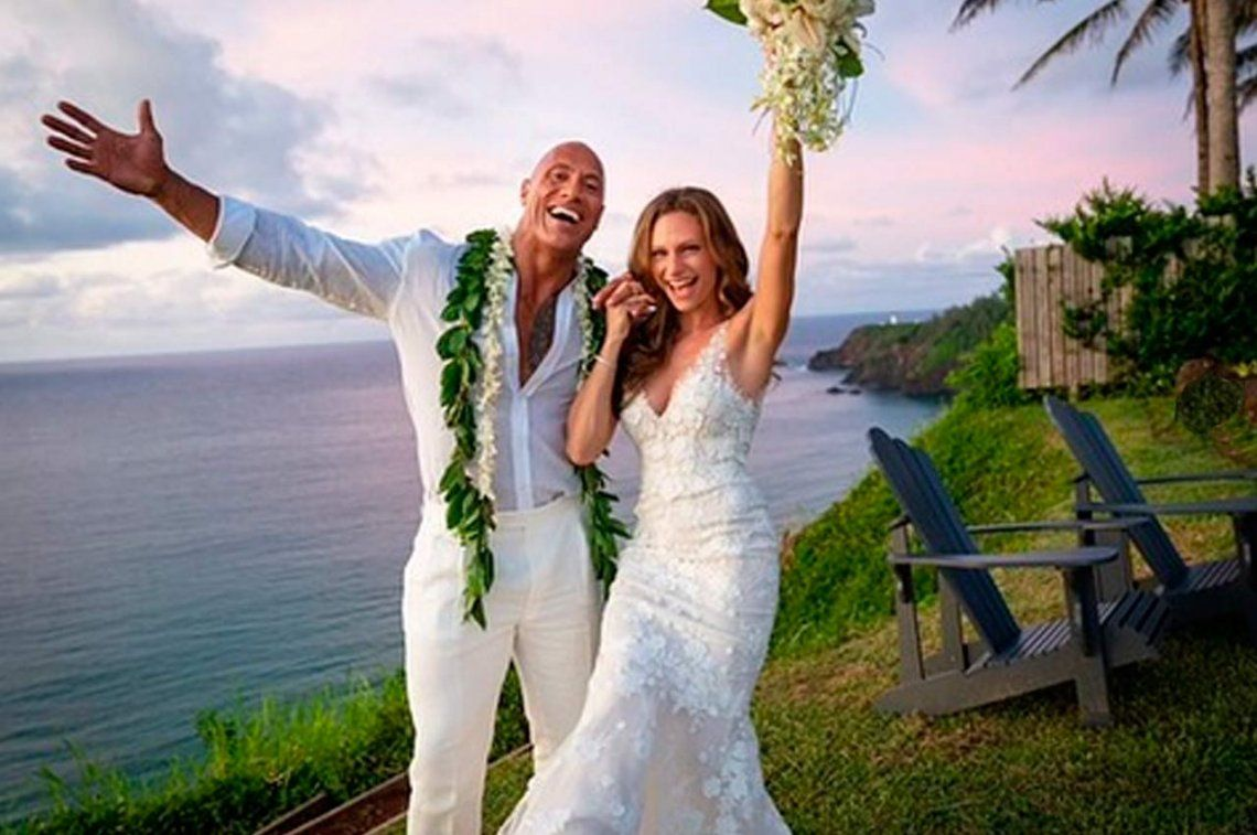 Dwayne The Rock Johnson se casó en secreto en Hawaii