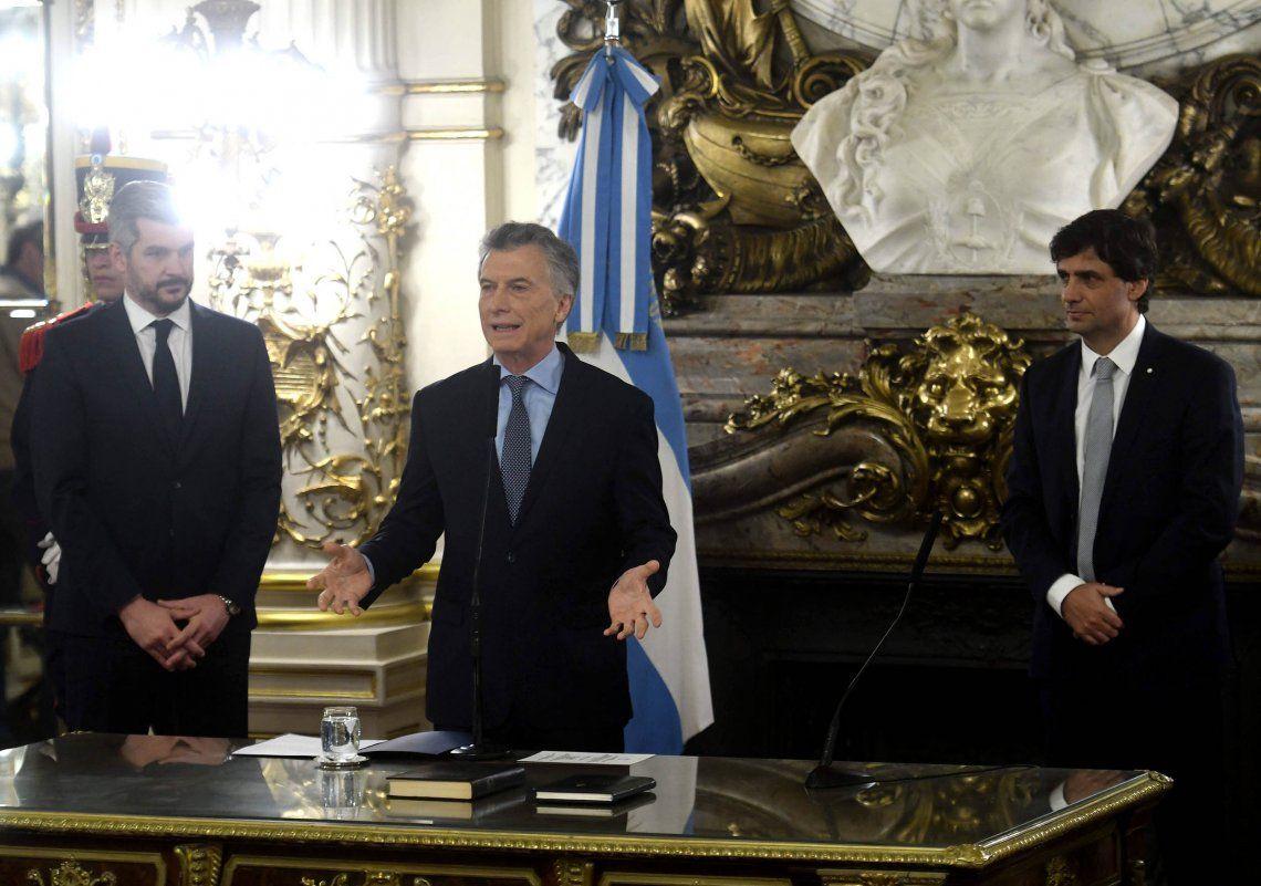 El juramento de Hernán Lacunza como ministro de Hacienda, en fotos