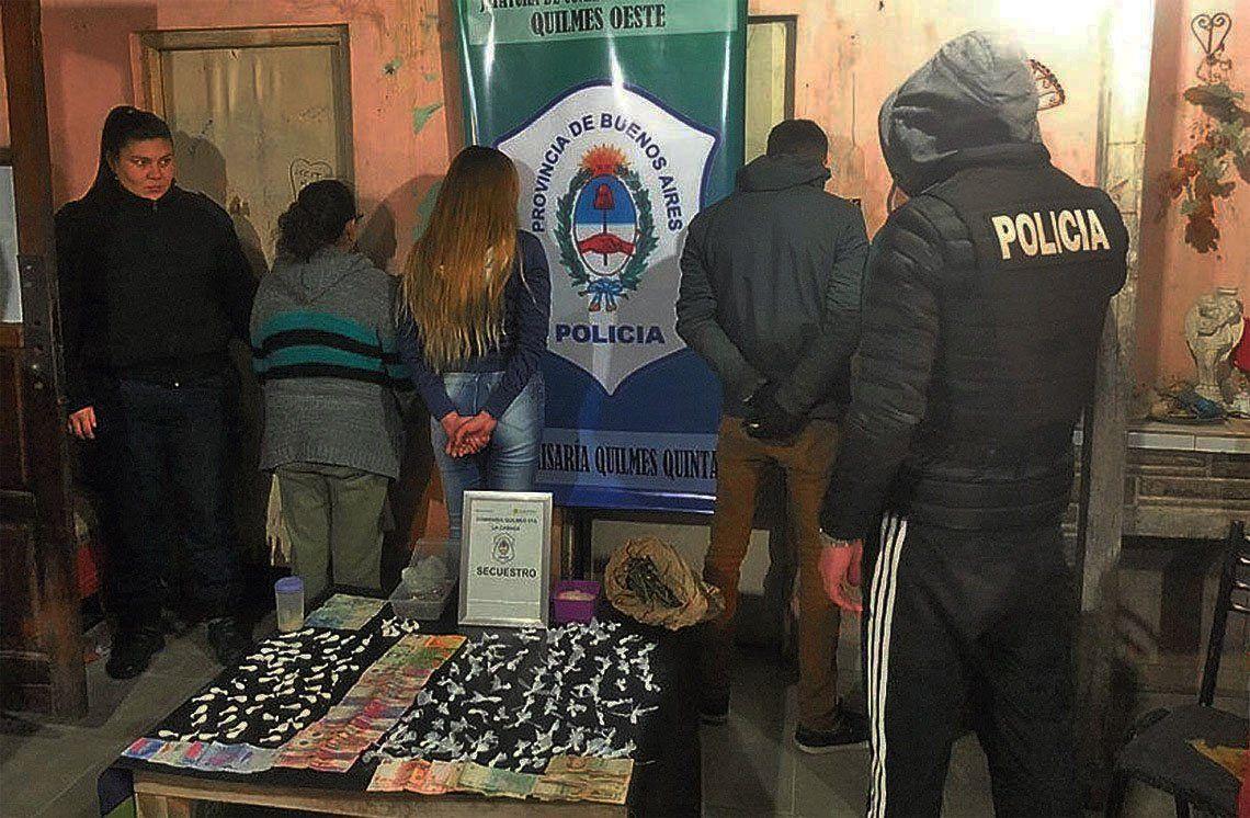 Quilmes: cayó La Vieja, que vendía droga para pagar el abogado de su hijo narco