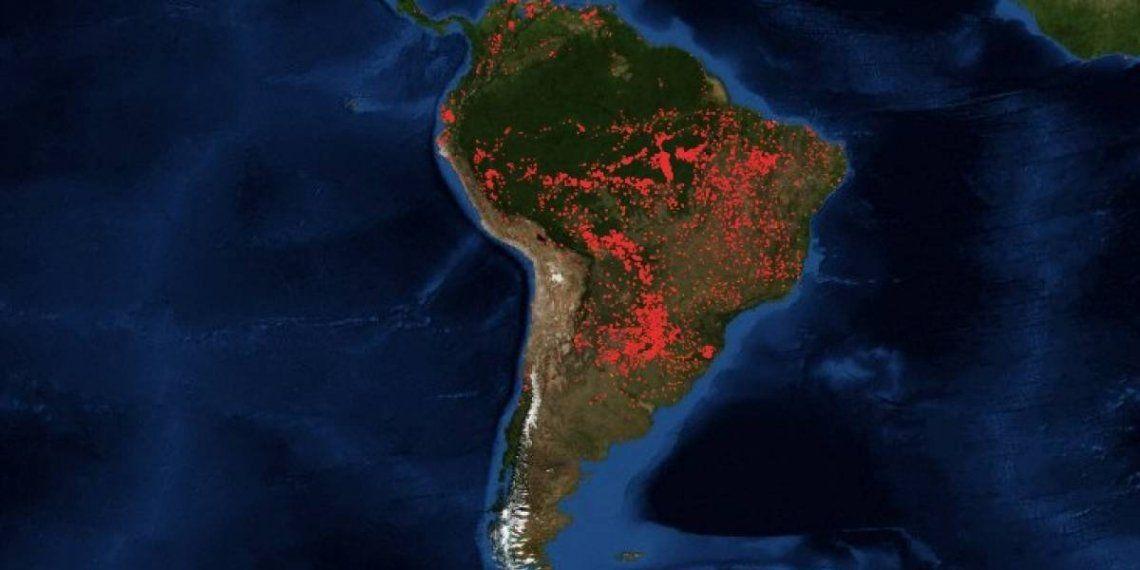 Amazonas: cómo afecta el incendio a la Argentina