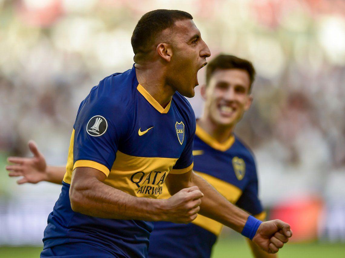 Los goles de Wanchope Abila, Reynoso y Caicedo en la goleada de Boca a Liga de Quito en la ida de los cuartos de final de la Copa Libertadores 2019