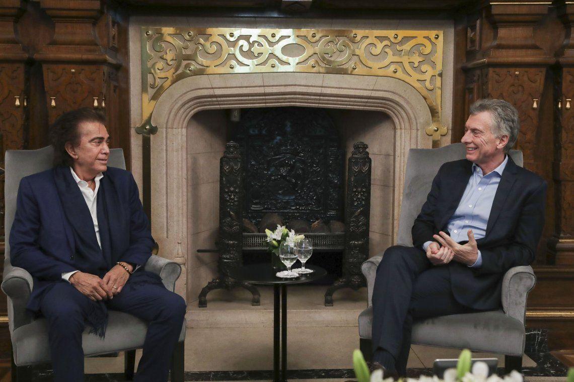 Mauricio Macri recibió al Puma Rodríguez en Casa Rosada