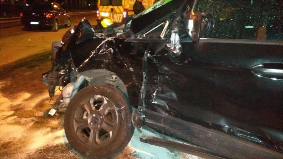 Bernal: persecución, disparos, un triple choque y dos detenidos