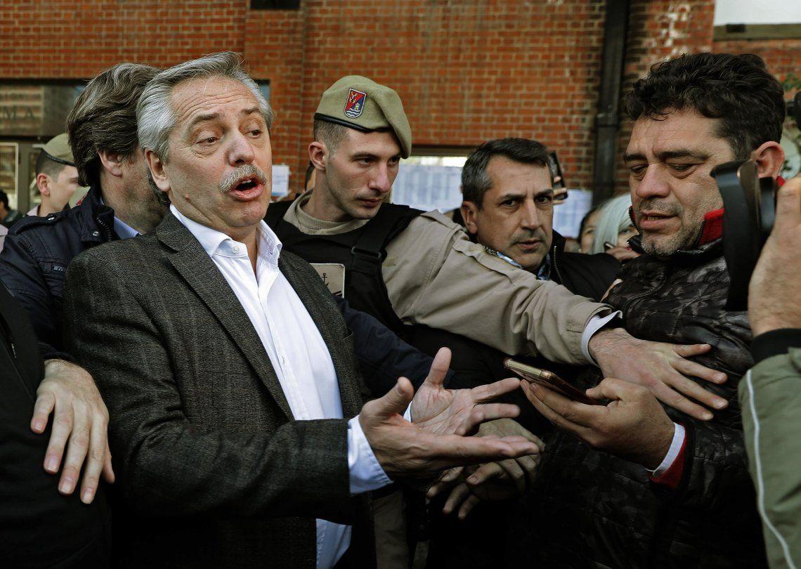 Alberto Fernández con el FMI: cuestionó el acuerdo del organismo con el Gobierno