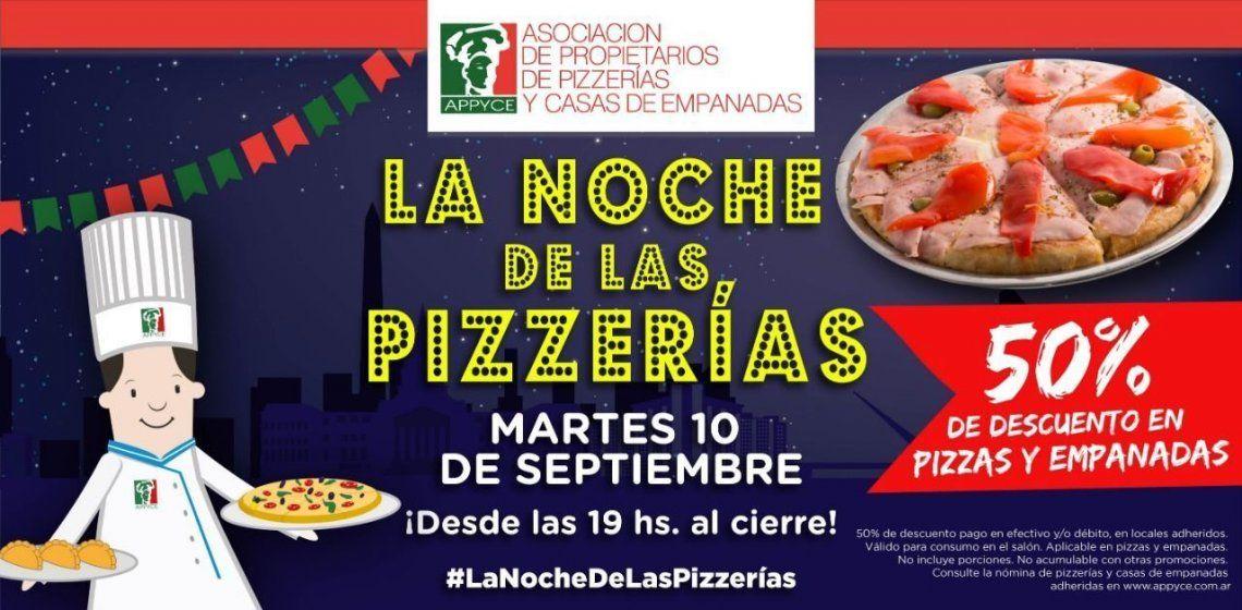 Llega la Noche de las pizzerías con descuentos de hasta 50%