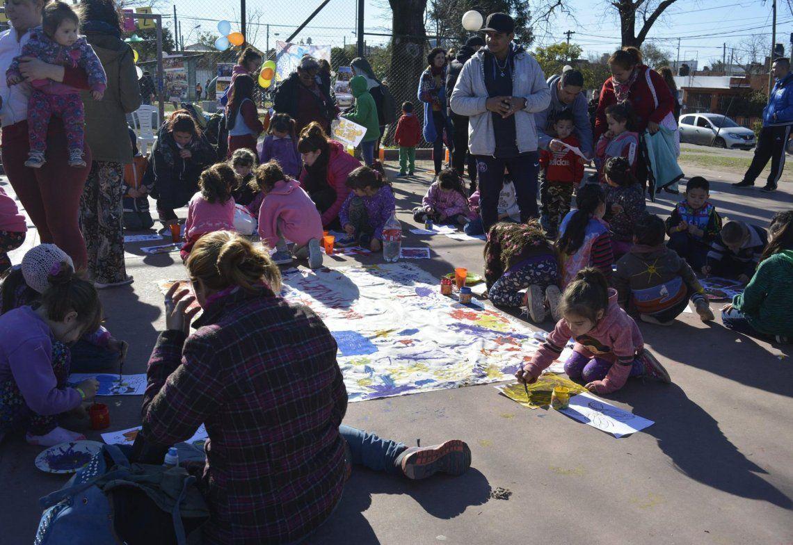 La institución realiza distintas actividades para los chicos del barrio moronense.