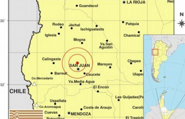 San Juan: se registró un sismo de 4.5 grados