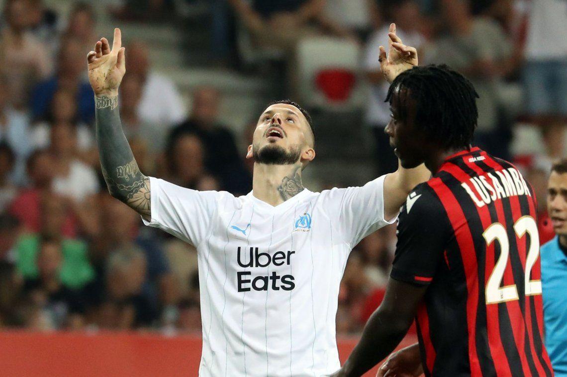 Debut en las redes para el Pipa: Darío Benedetto anotó su primer gol en el Olympique de Marsella