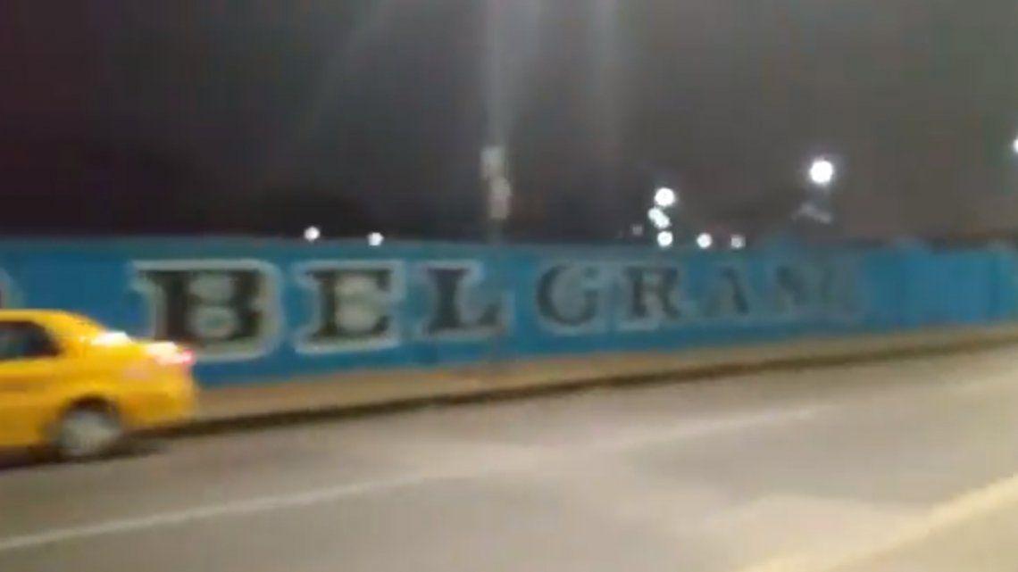 ¿El mural más grande del mundo? Hinchas de Belgrano de Córdoba hicieron una verdadera obra de arte