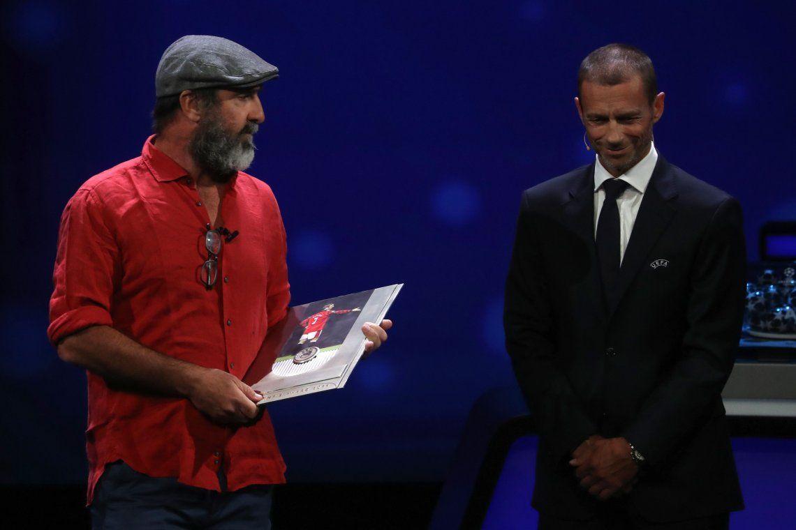 El insólito discurso de Cantona en la ceremonia el sorteo de la Champions