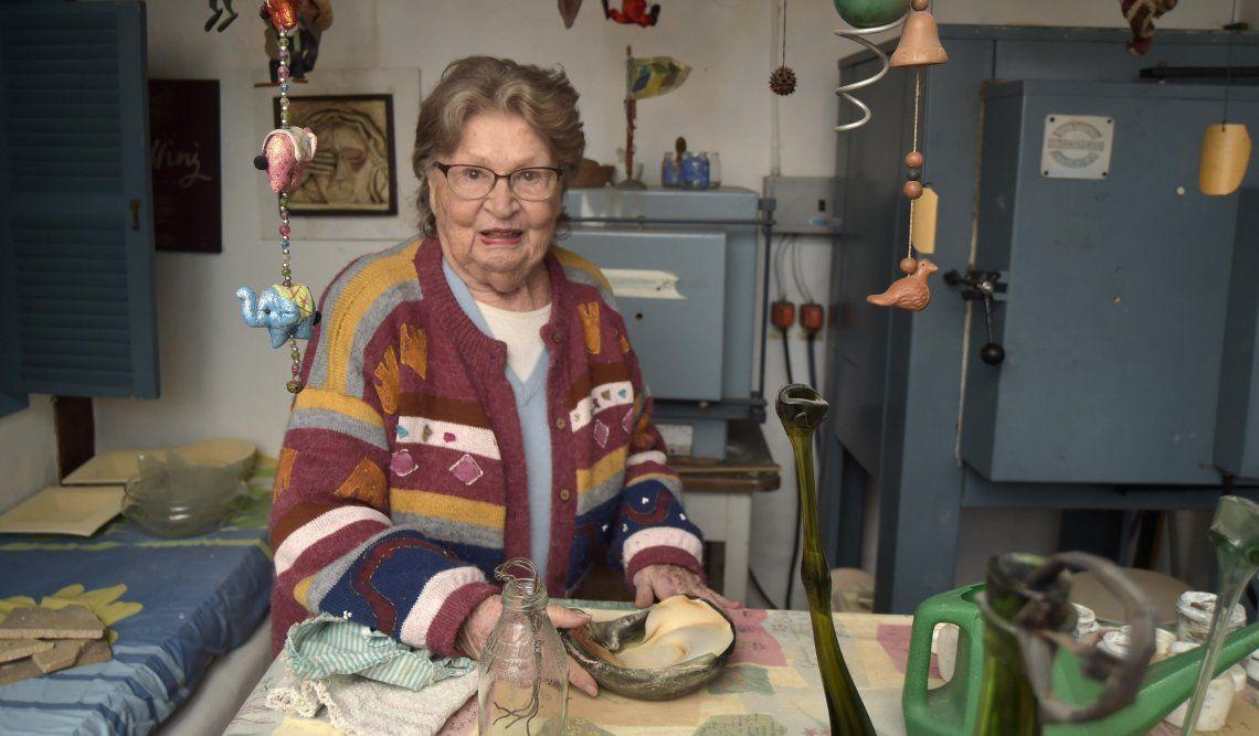 Rita Croci en su taller