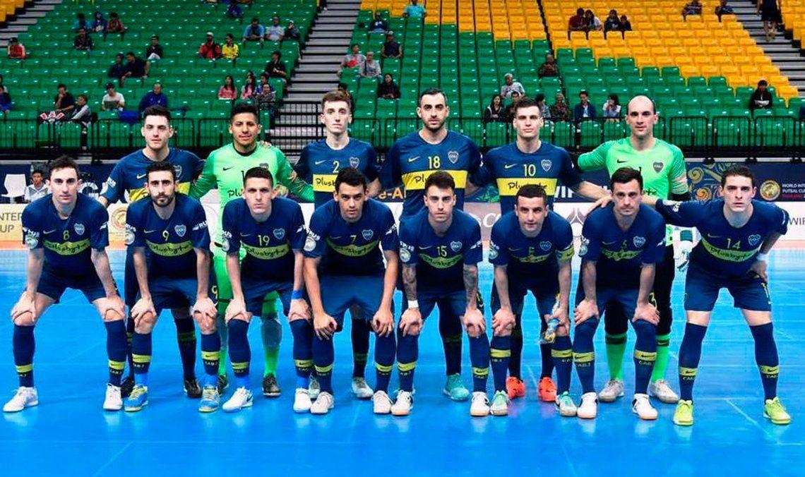 Video: el golazo del arquero de Boca para la victoria ante Barcelona por el Mundial de Clubes de Futsal