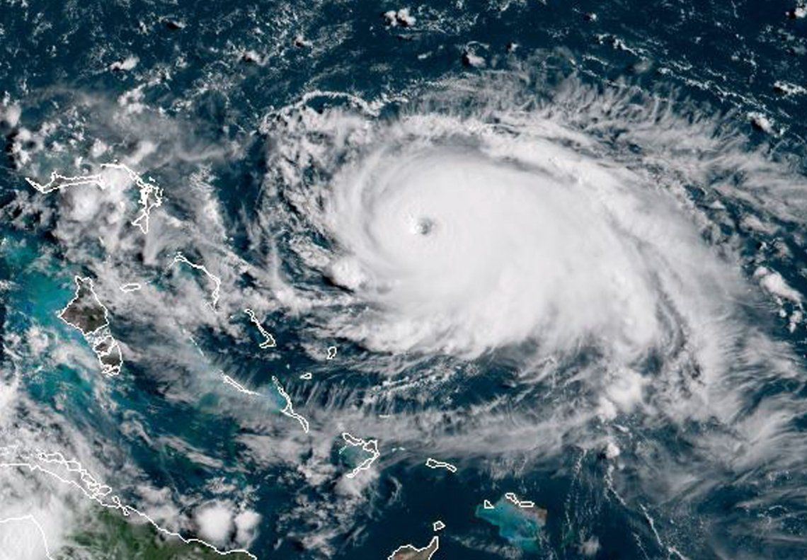 El huracán Dorian se fortalece: ya es categoría 5, la máxima