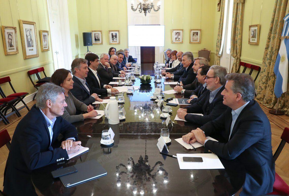 Macri se reunió con su gabinete de ministros en la Casa Rosada