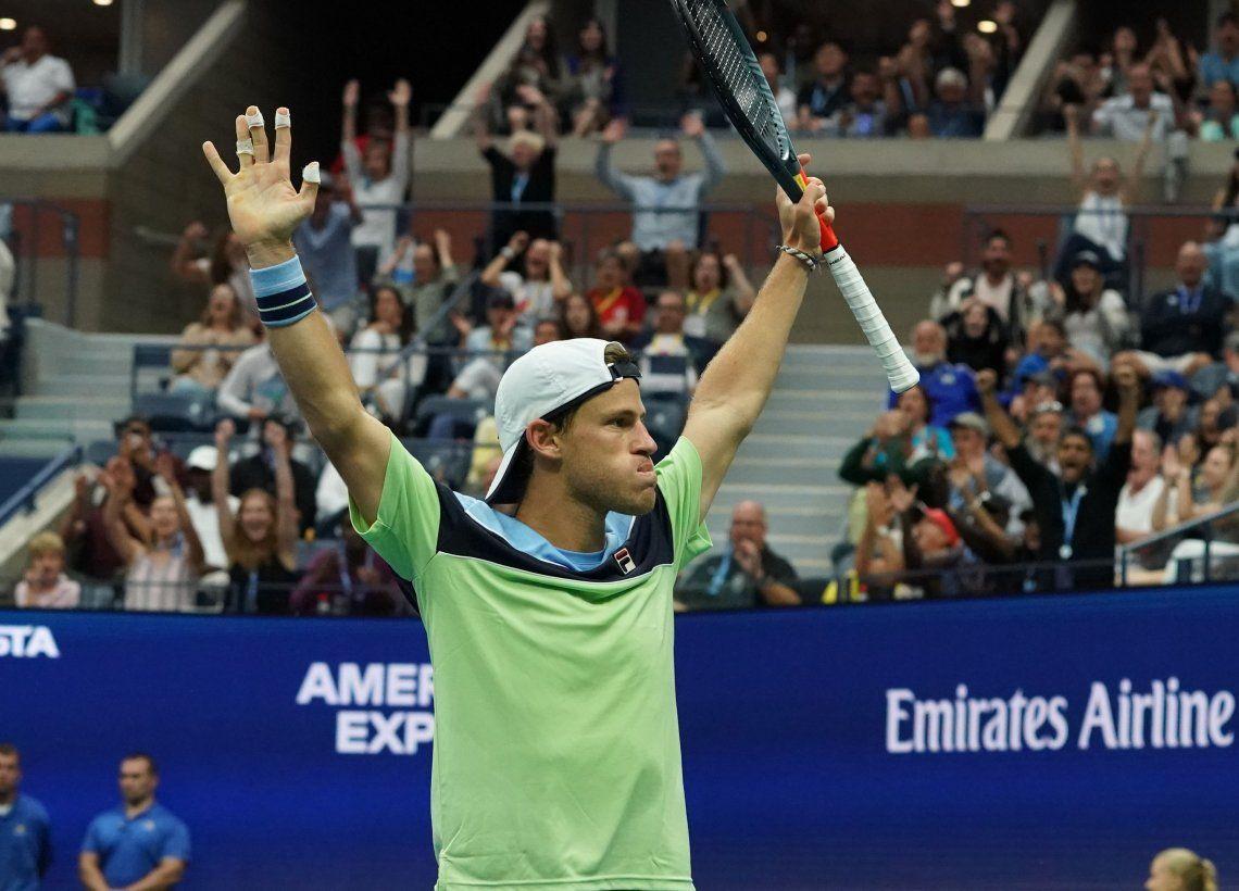 US Open: Diego Schwartzman derrotó a Zverev y pasó a cuartos de final