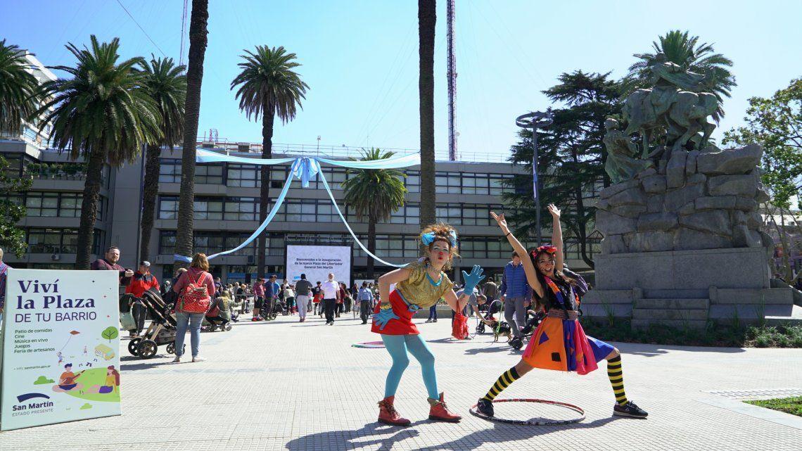 San Martín: con un gran festejo, fue inaugurada la Plaza Central