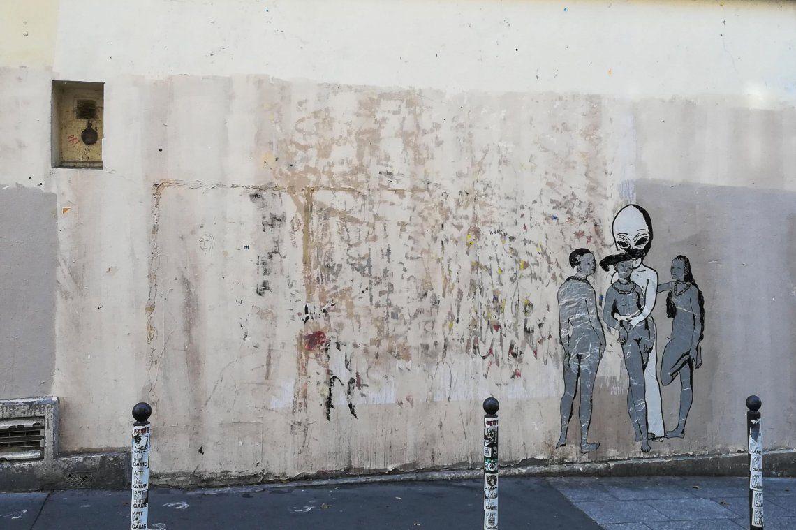 Robaron una obra de Banksy cerca del Centro Pompidou de París