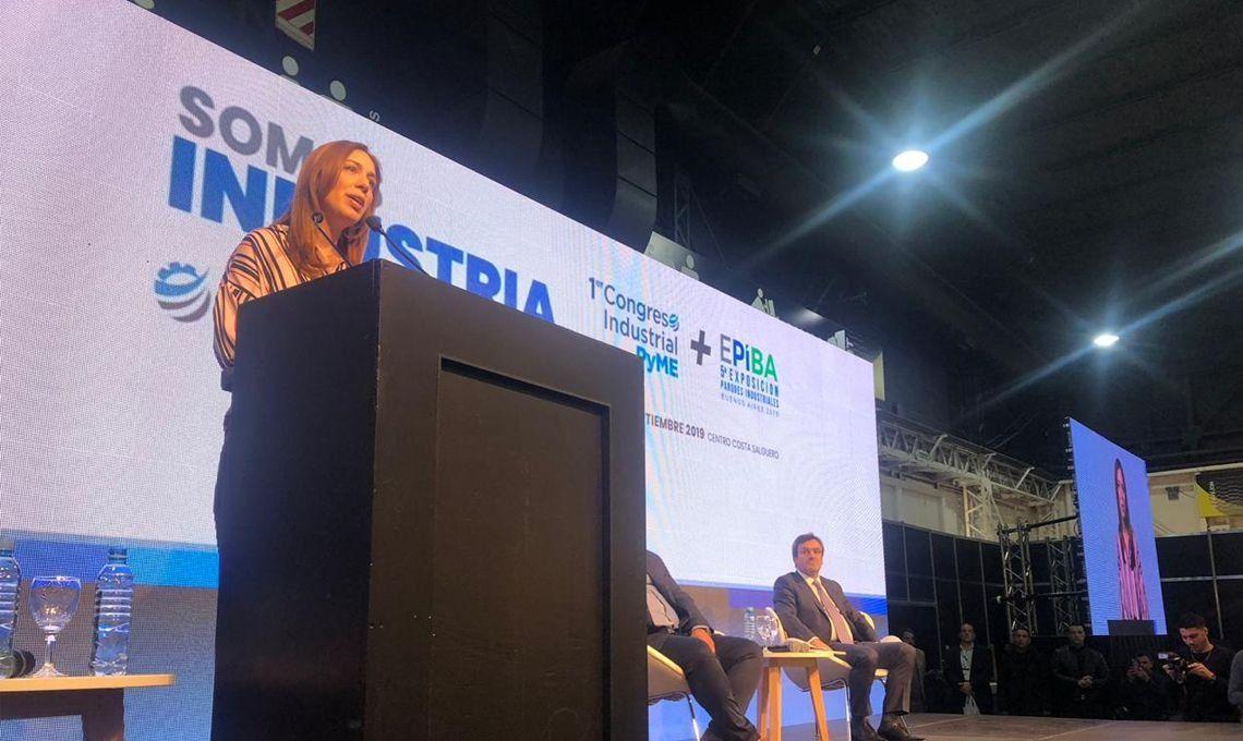 María Eugenia Vidal en el Congreso Industrial PYME: La crisis se tiene que convertir en un camino de consenso y diálogo