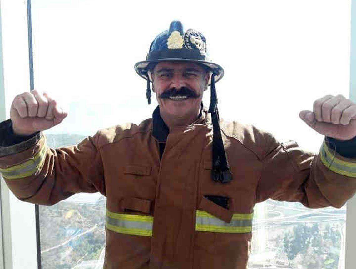 Bernal: bombero se destacó en competencia solidaria