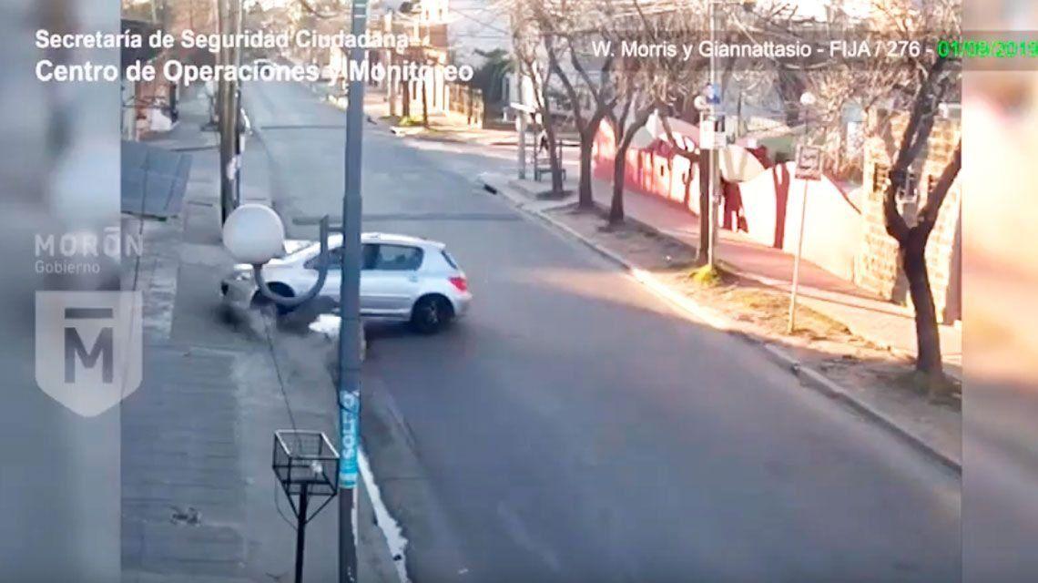 Morón | Perdió el control del vehículo y chocó: tenía casi 3 gramos de alcohol en sangre