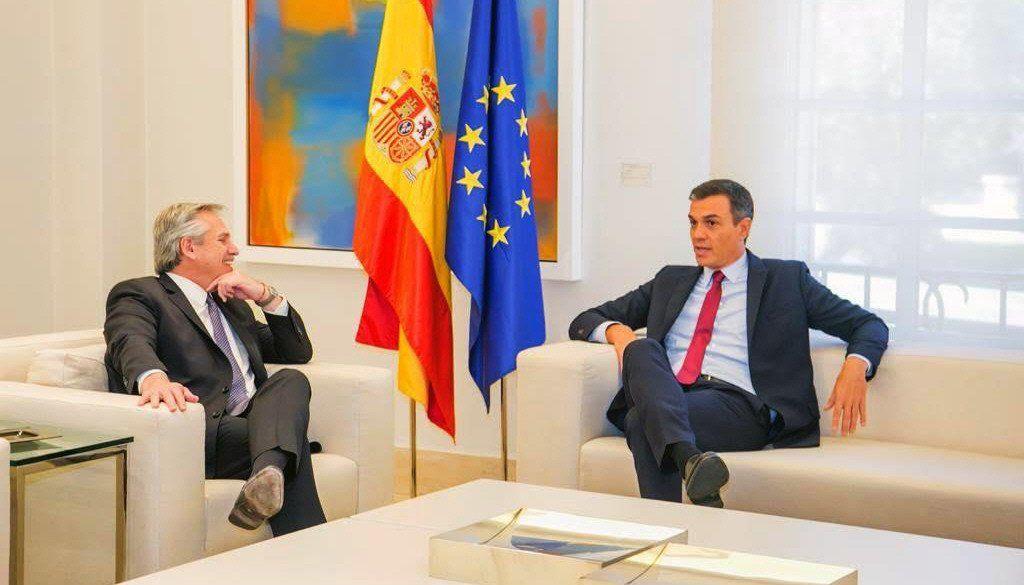 Pedro Sánchez se hizo un hueco en su agenda intensa de ayer para recibir a Alberto Fernández.