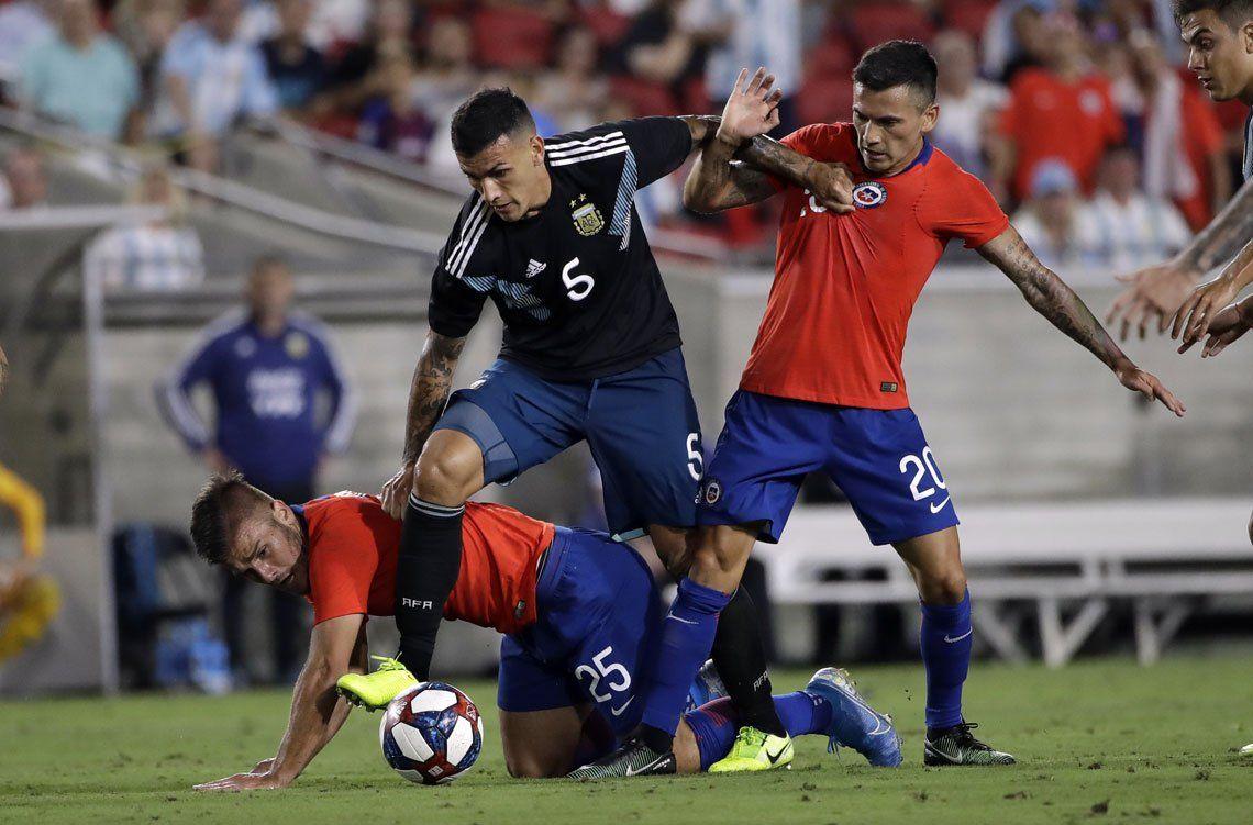 El empate entre Argentina y Chile en imágenes