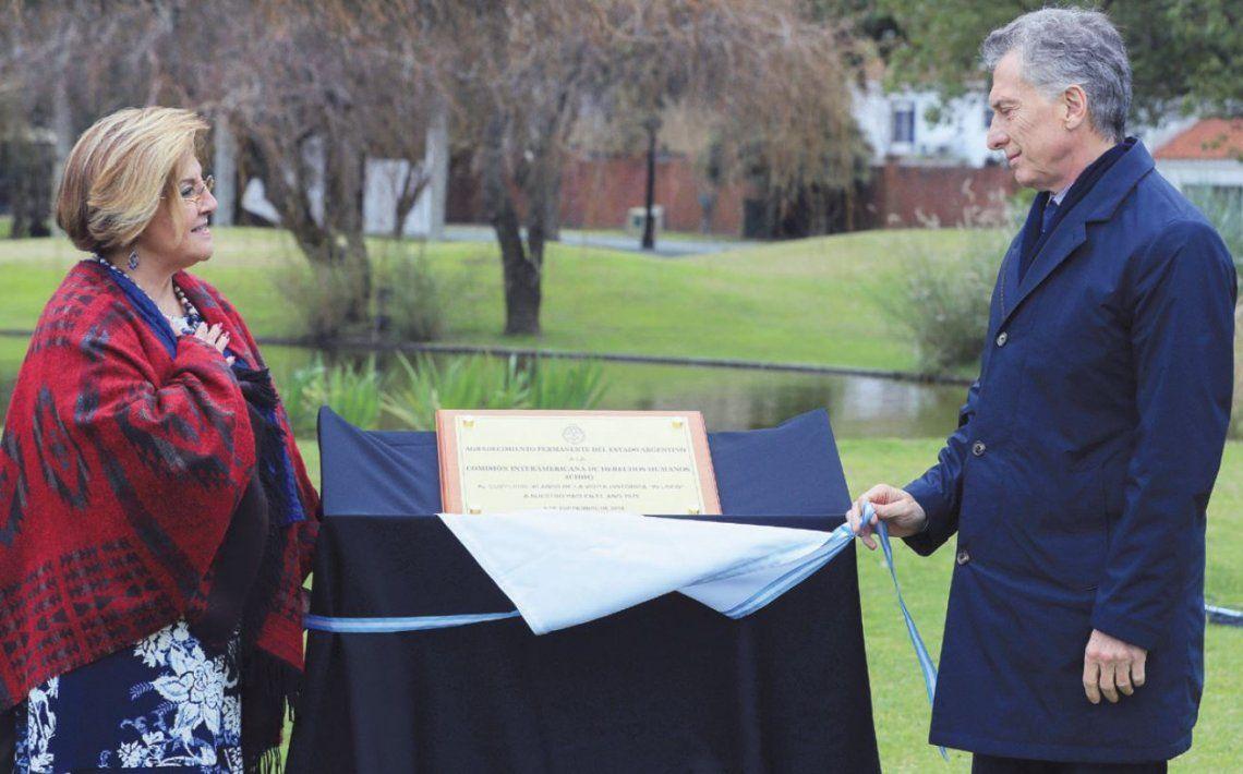 Macri encabezó acto a 40 años de la visita de la CIDH