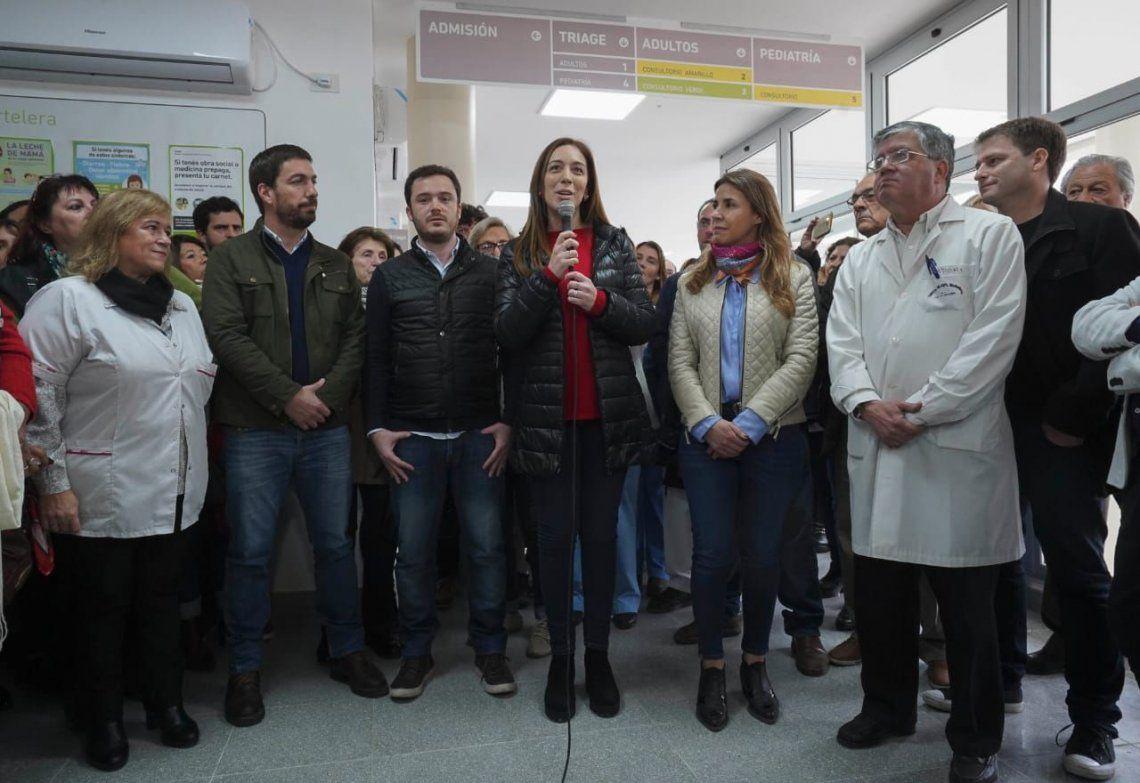 Mercedes: María Eugenia Vidal inauguró la guardia número 50 en hospitales bonaerenses