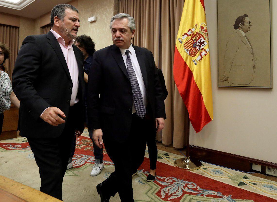 Alberto Fernández reaunudó la campaña en Europa con Portugal como ejemplo