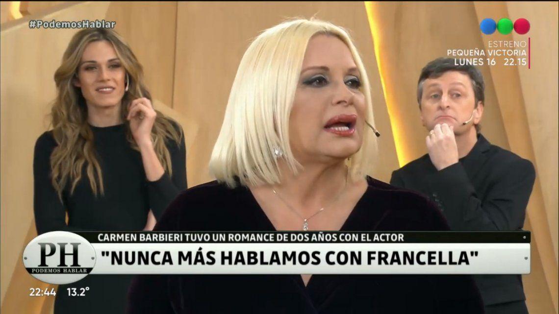 Carmen Barbieri reveló detalles de su amor con Guillermo Francella