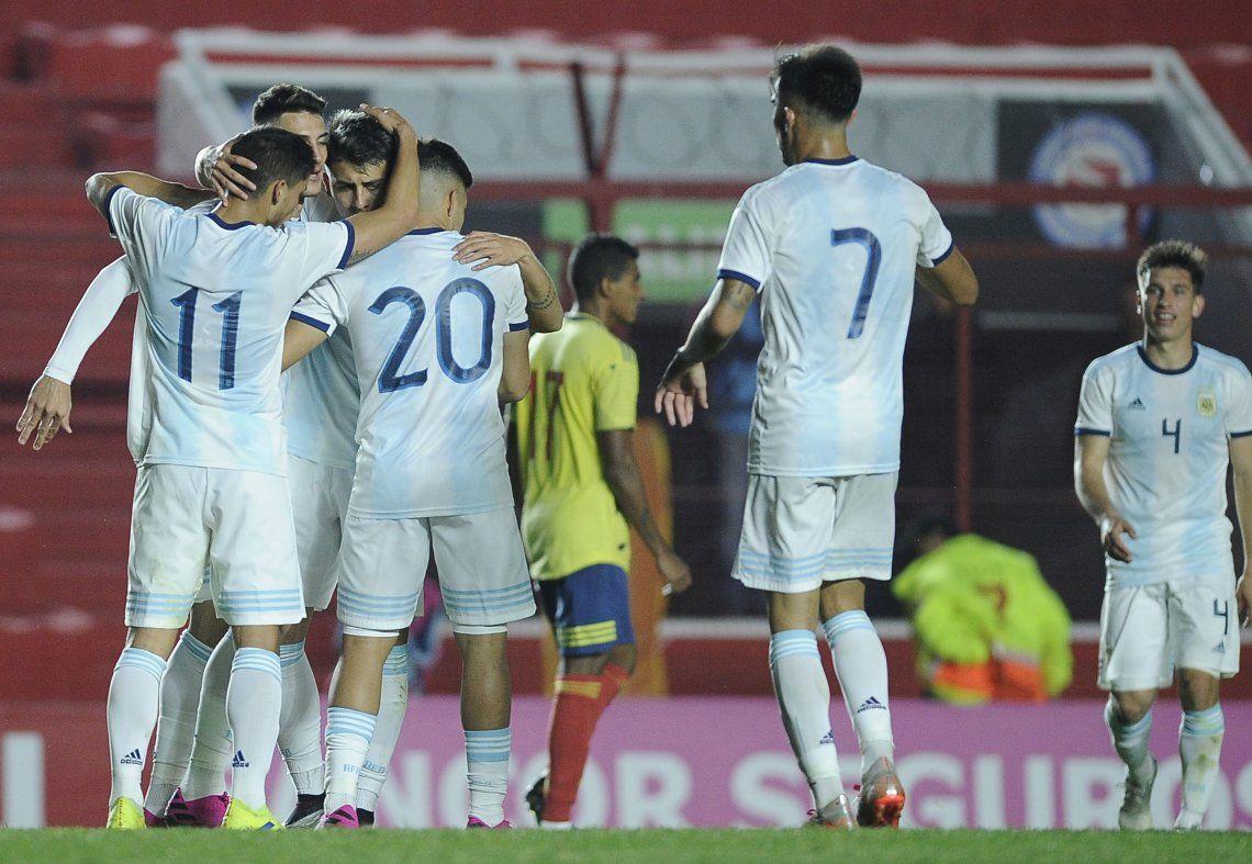 La Selección Argentina Sub 23 venció por 3 a 1 a Colombia en el último amistoso de la Fecha FIFA