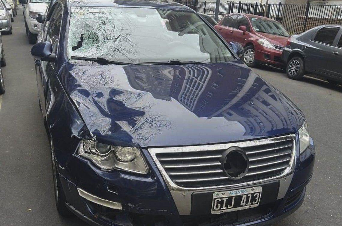 Eugenio Veppo, de 32 años, es el periodista que manejaba un VW Passat y que embistió a los agentes de tránsito.