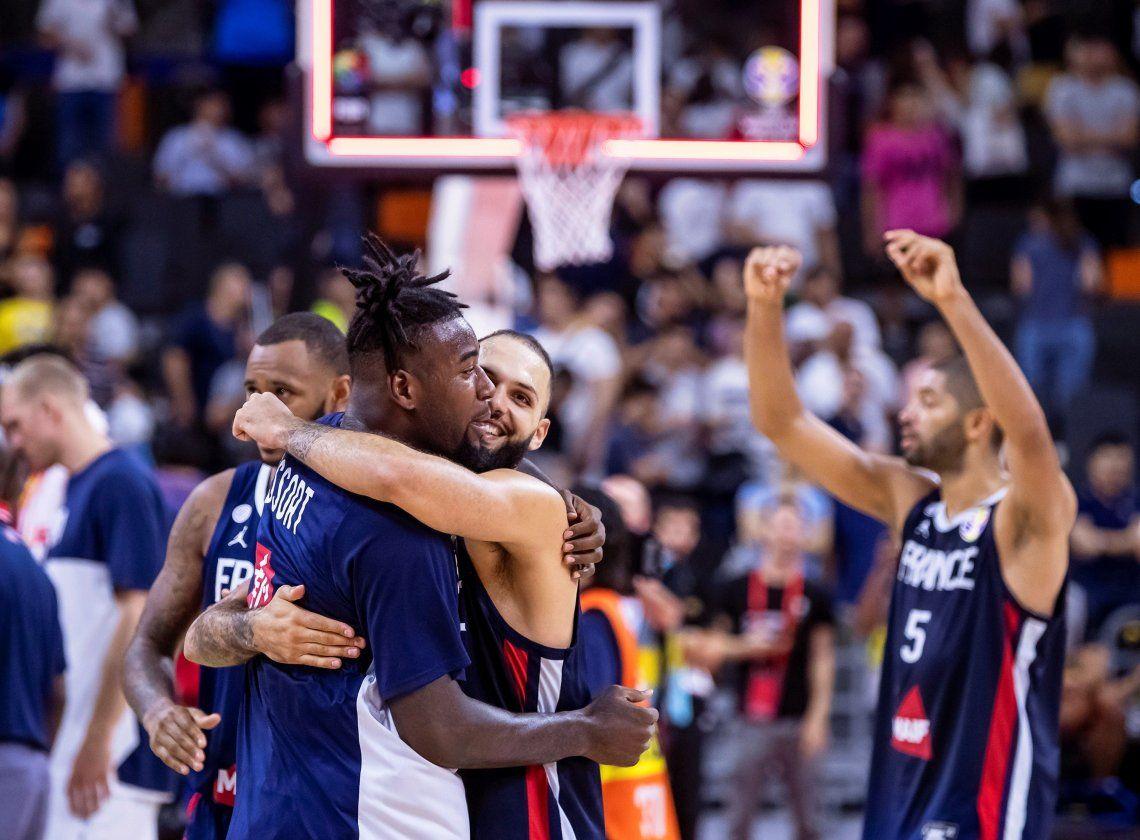 Mundial de Básquet de China 2019: Francia le ganó a Estados Unidos y será rival de Argentina en semis