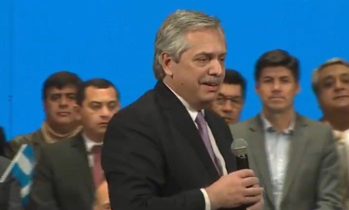 Alberto Fernández: Se terminó el país de segunda y el país de primera