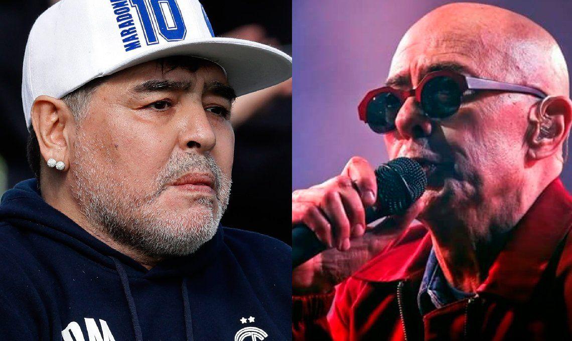 El Indio Solari le mandó un saludo a Diego Maradona y a los triperos: Desearles lo mejor.