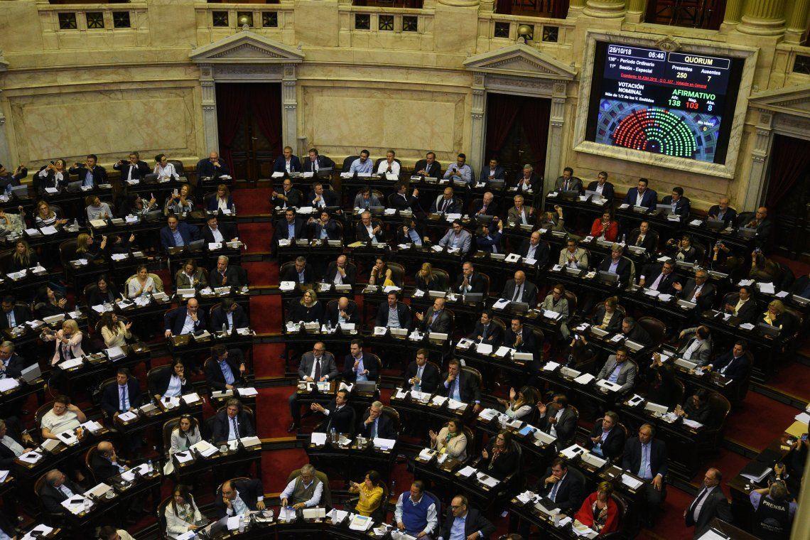 El momento en el que Diputados aprobó el proyecto de Ley de Presupuesto 2019