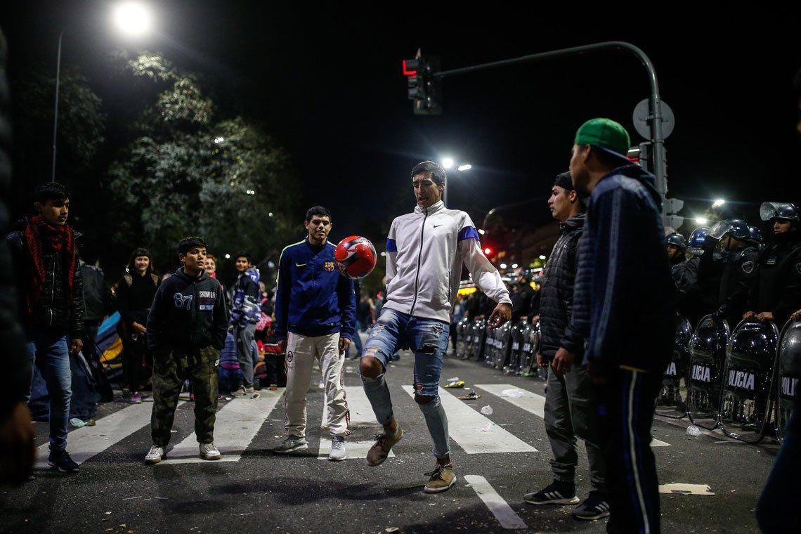 Galería de Imágenes: así están los acampes en la Ciudad de Buenos Aires