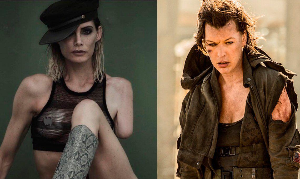 Perdió el brazo en una escena: el calvario de la doble de Milla Jovovich