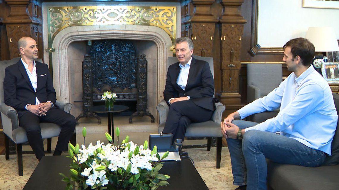 Macri recibió a la Selección Argentina de Básquet en la Casa Rosada