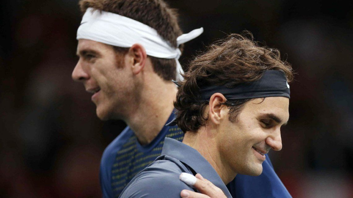 Del Potro confirmó que jugará con Roger Federer en Argentina en noviembre