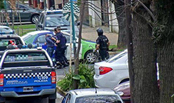 Imagen tomada desde una cámara de seguridad de Vicente López a La Banda de Medellín.