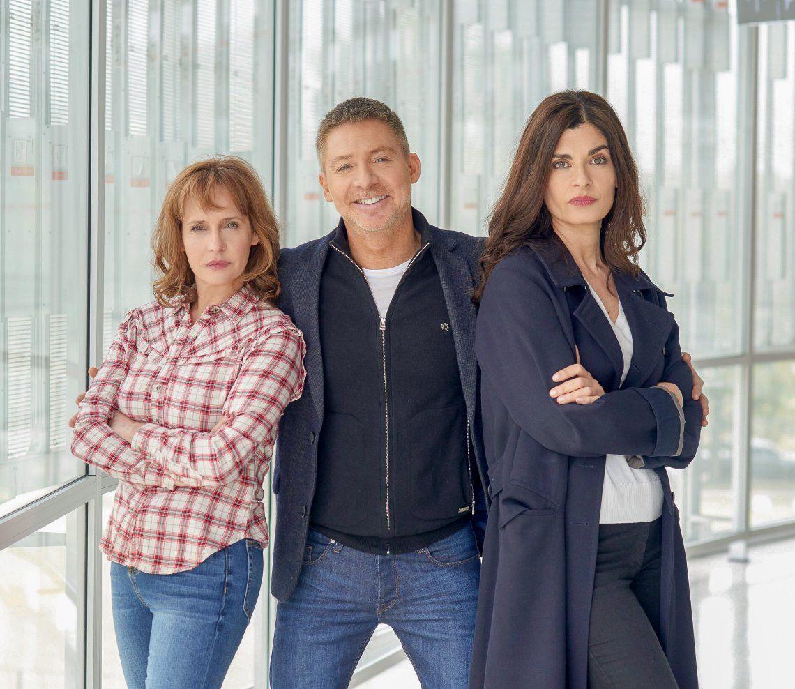 Los protagonistas de un trío de película: Toscano