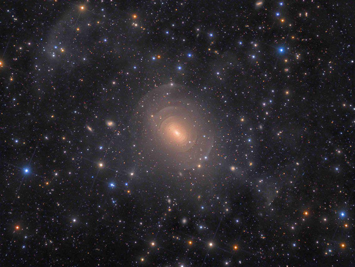 Shells Of Elliptical Galaxy Ngc 3923 In Hydra   Rolf Wahl Olsen