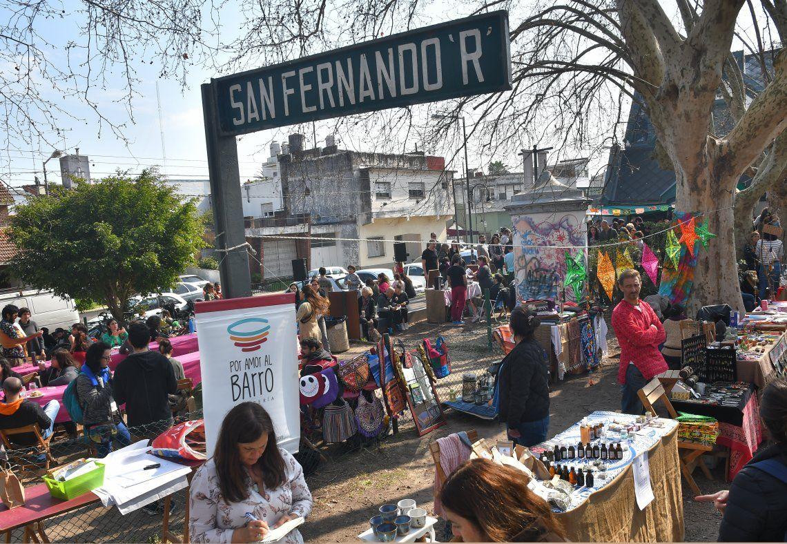 Numerosos productores presentaron sus productos en la feria de San Fernando.