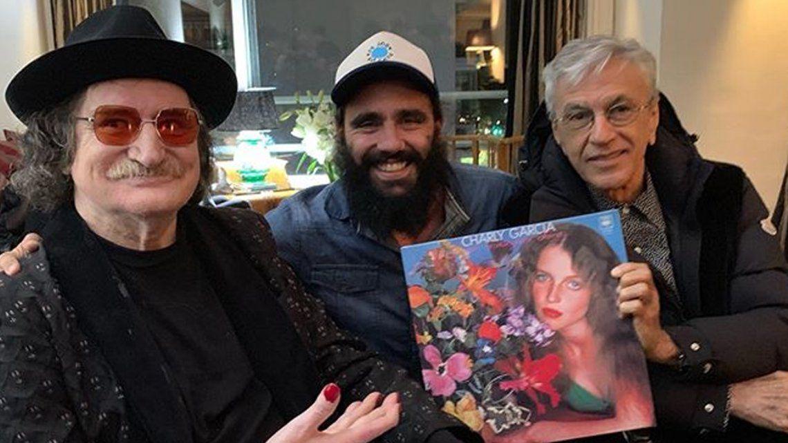 Alegría brasileña y argentina: Charly García y Caetano Veloso se encontraron en una velada a pura música en la casa de Juan Pablo Sorín