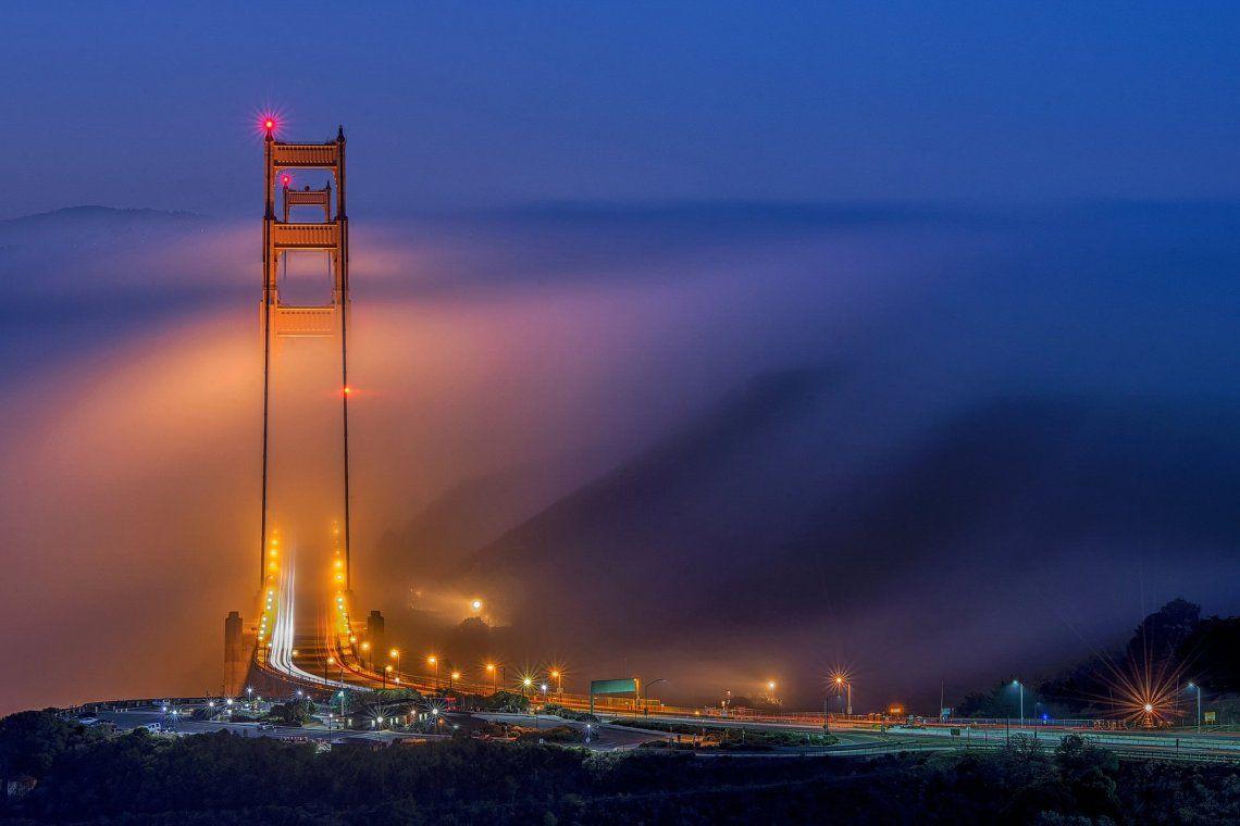 Ganador - ciudades y naturaleza | Alineación del Puente Dorado por Jay Huang