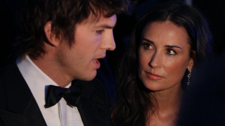 Demi Moore aseguró que los tríos marcaron el fin de su relación con Kutcher