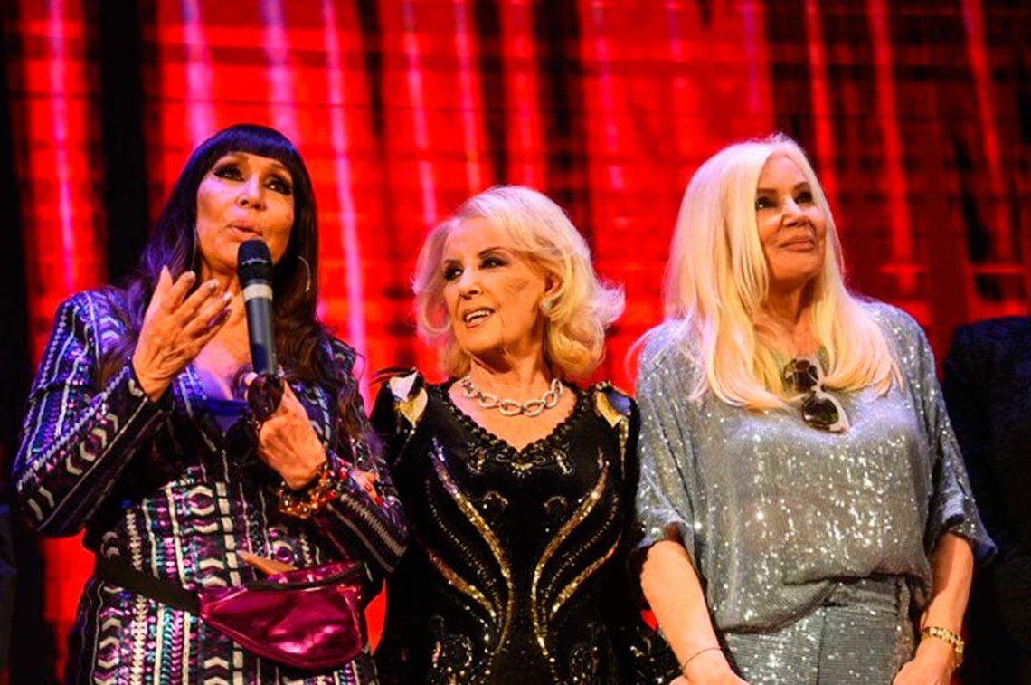 ¿Irrepetible? Moria Casán, Mirtha Legrand y Susana Giménez, en cumbre de divas